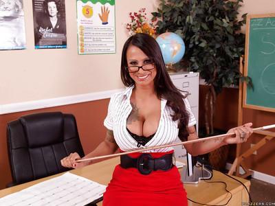 MILF teacher Rosie De Luna with big tits in hot stockings