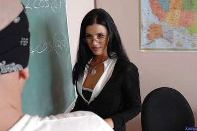 Milf teacher in sexy glasses India Summer enjoys hardcore sex