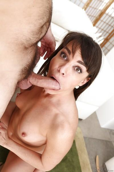 Horny girlfriend gives her man a blowjob to remember and swallows jism