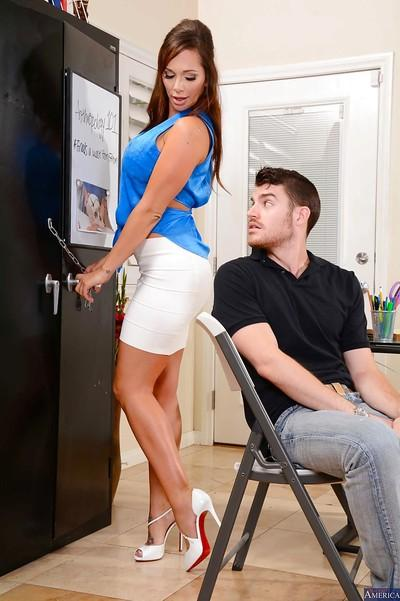 Office sex with an perfect milf teacher in high heels Destiny Dixon