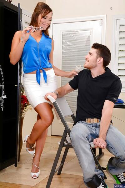Office sex with an perfect milf teacher in high heels Destiny Dixon