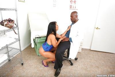 Huge boobs Latina milf Isis Love in interracial fucking action