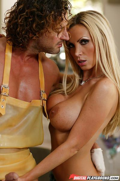 Fantastic blonde milf Nikki Benz can