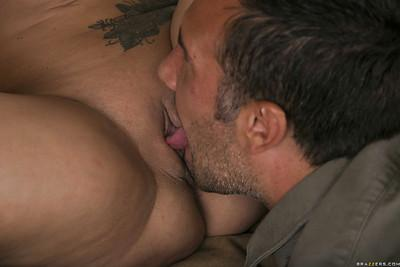 Busty MILF Briana Banks gets her pussy licked and slammed hardcore