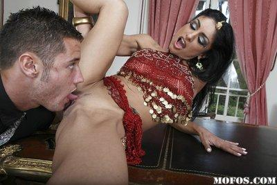 Slim indian MILF Persia Pele gets her pussy licked and fucked tough