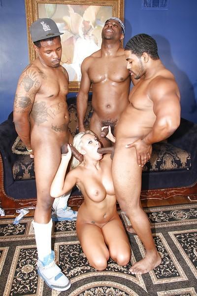 Katie Summers is feeling herself nice during interracial gangbang
