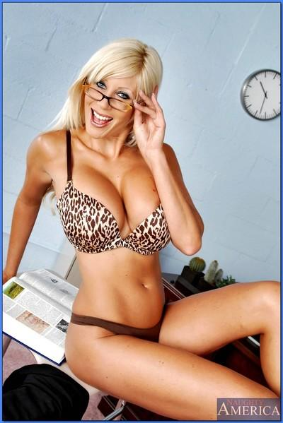 Mature sex teacher in glasses Puma Swede revealing shapely assets