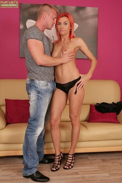 Cute mature redhead Klarisa Hot was fucked deep in her tight vagina