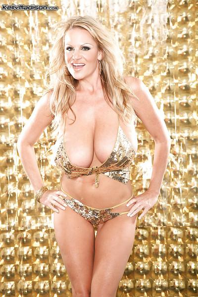 Kelly Madison demonstrated her mature big tits in high heels
