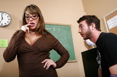 Milf teacher Ava Devine is tasting fresh sperm in the classroom