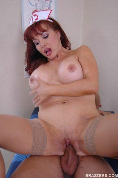 Big titted Latina mom in uniform Sexy Vanessa fucking a thick dick