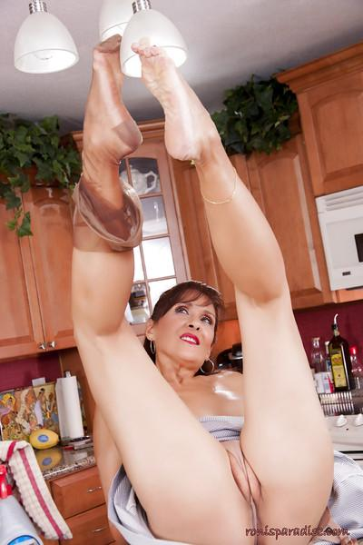 Roni still keeps playing with some of her favorite glass dildos