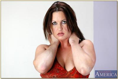 Busty mom Michele Raven spreading her mature fucking holes