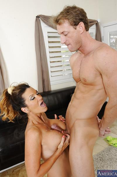 Gorgeous mature chick Raquel DeVine is fucking with her sport instructor