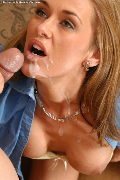 Jaw-dropping sexy mature office slut gives head and gets facialized