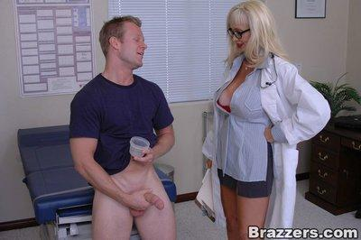 Mature doctor with huge boobs Britney O
