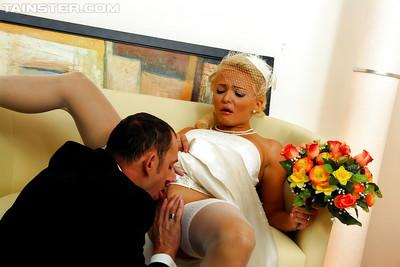 Salacious fashionistas sharing a stiff cock and a sticky cumshot