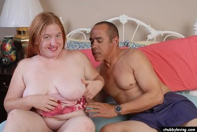 Obese redhead Keno licking ball sac and cock for cumshot in mouth
