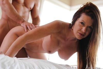 Mature babe Raquel Devine enjoys hardcore sex with her lover