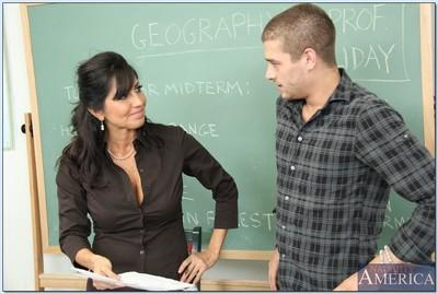 Slutty teacher Tara Holiday gets blowbanged and fucked hardcore