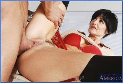 Mature teacher in stockings Lake Russel riding thick cock in the class