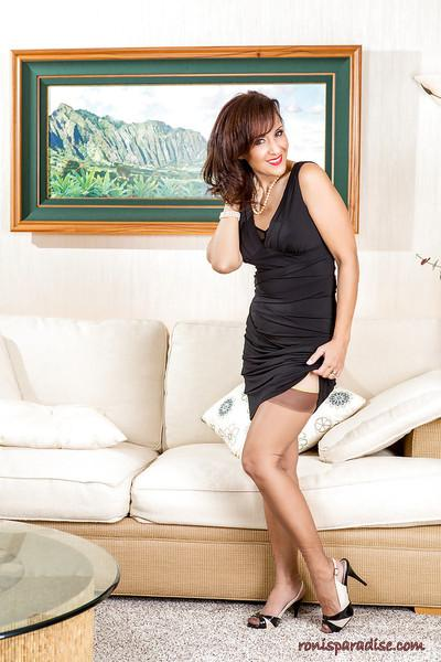 The most ravishing mature Roni has some good time here at home