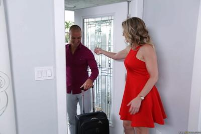 Blonde stepmom Cory Chase toys stepdaughter Marsha May