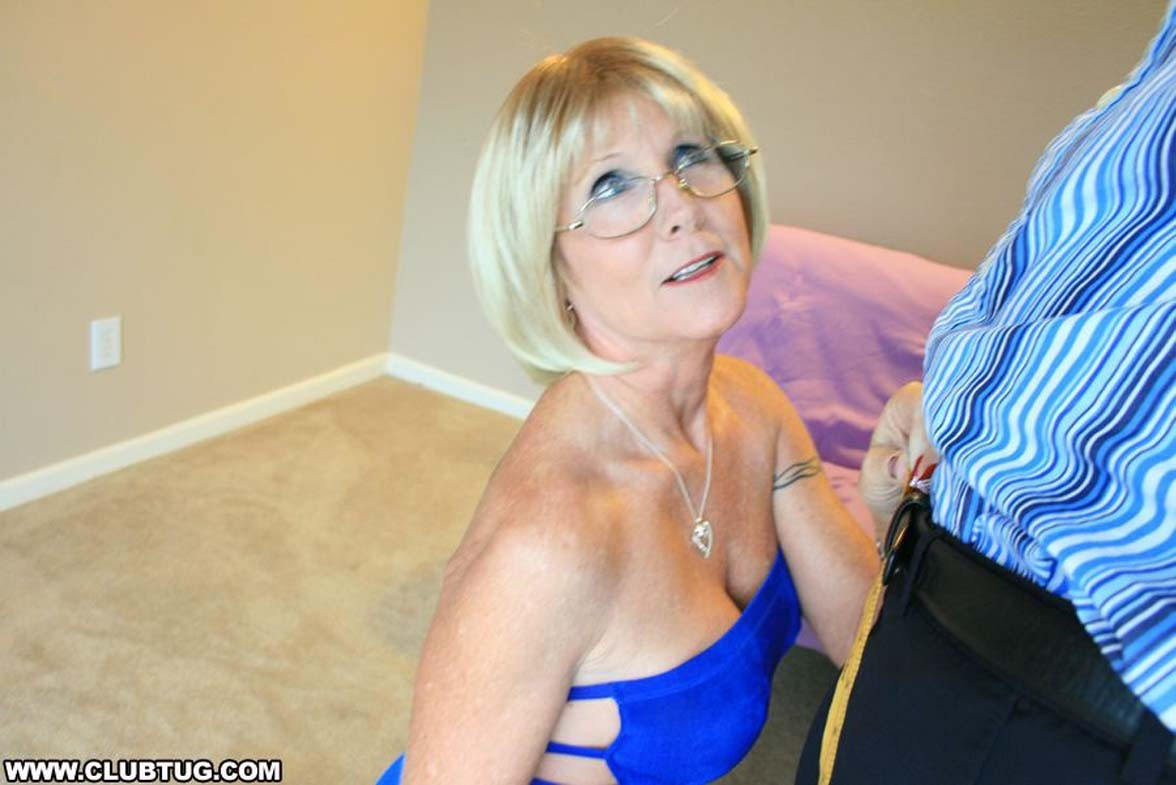 Grandma honey ray milks out huge dick