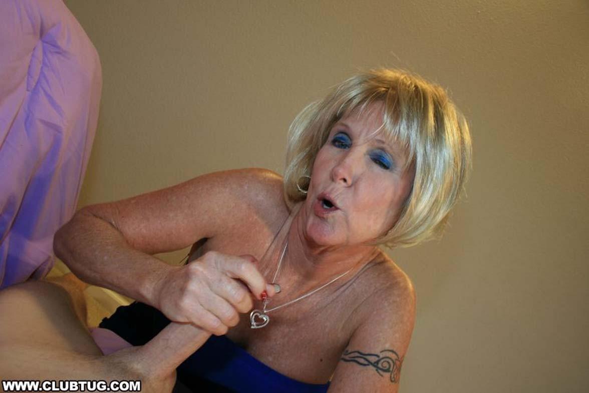 Grandma honey ray milks out huge dick