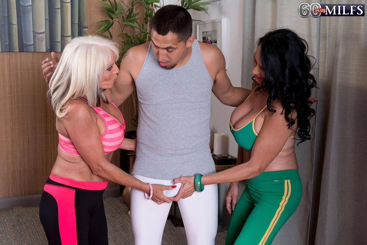 Milf sally dangelo and rita daniels having a hard workout and a