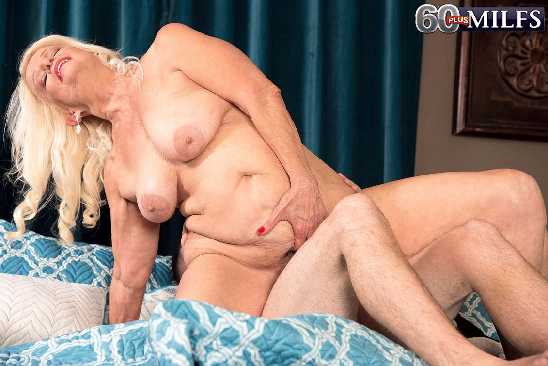 Dirty blond granny vikki vaughn loves to feel huge cock deep dow