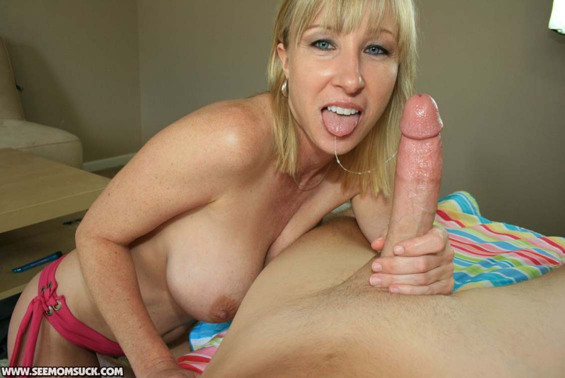 Mother keri lynn sucks and slobbers on billys cock at see mom su