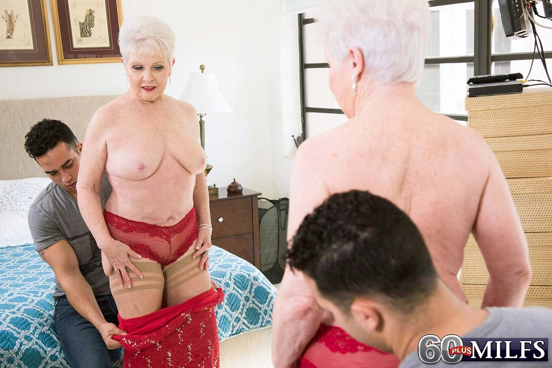 Dirty granny jewel fucks her granddaughters boyfriend