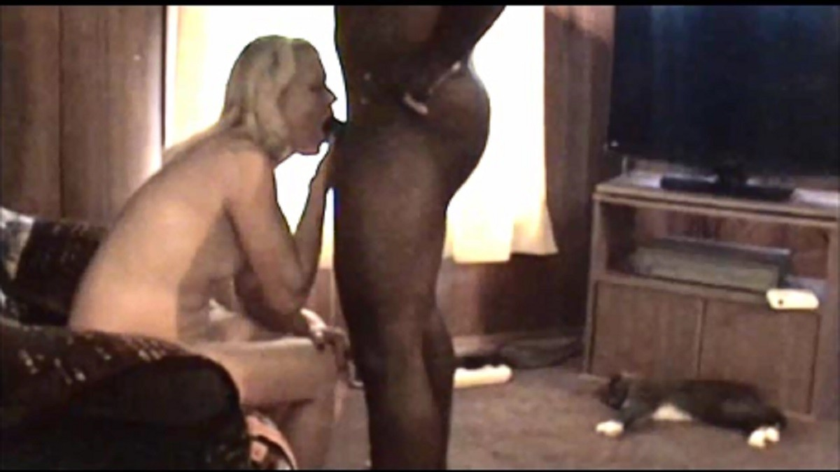 Wife taking on a bbc while hubby films