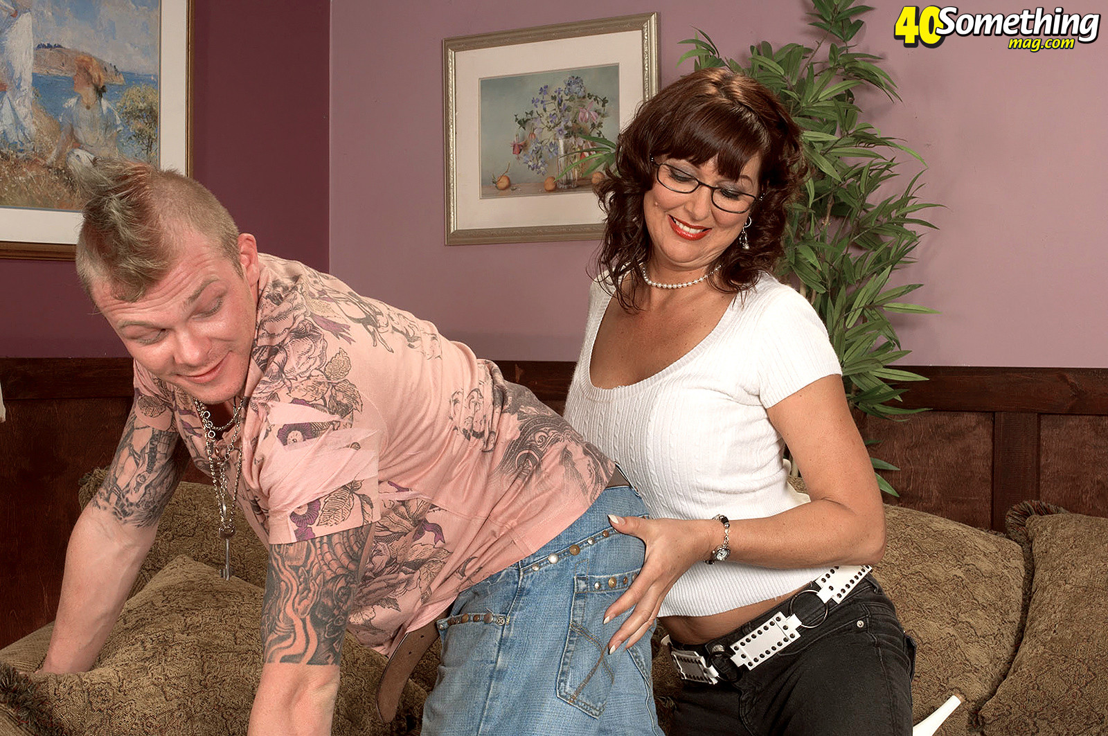 Lucky guy gets to fuck this horny busty milf in heat