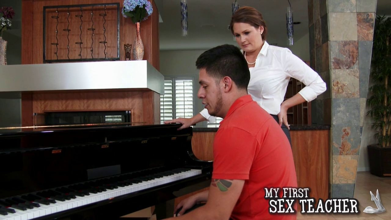 Piano teacher allison moore motivates a guy