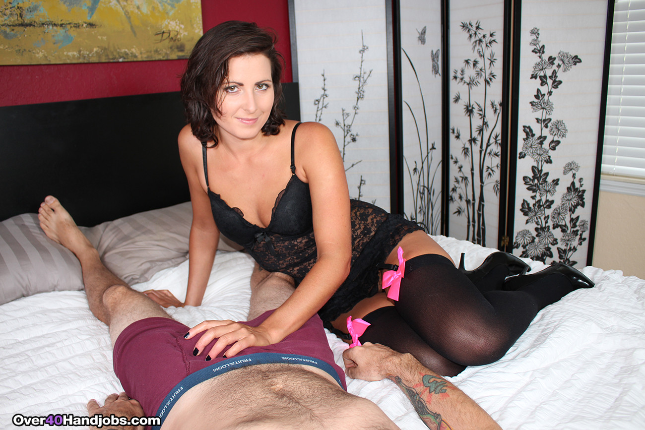 Feisty milf helena price milking a hard cock till it spurt