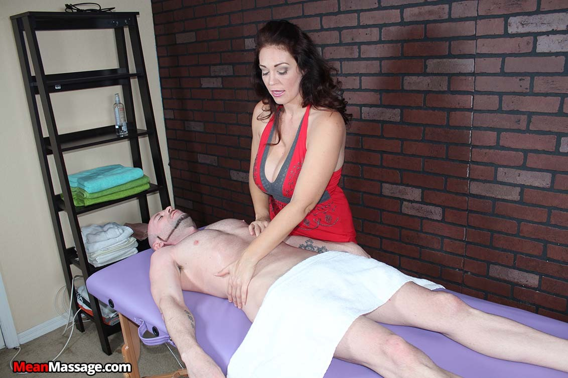 Milf charlee chase getting a guy unexpected postorgasm torture