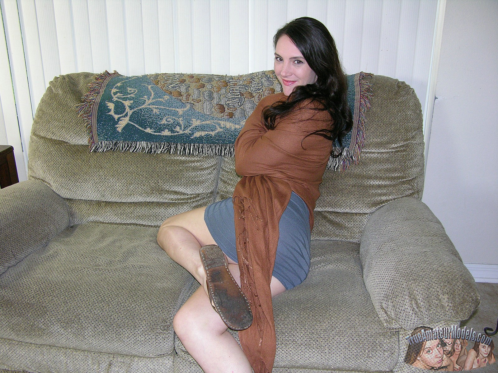 Amateur brunette milf models nude and spreads apart her ass - charlotte d. from