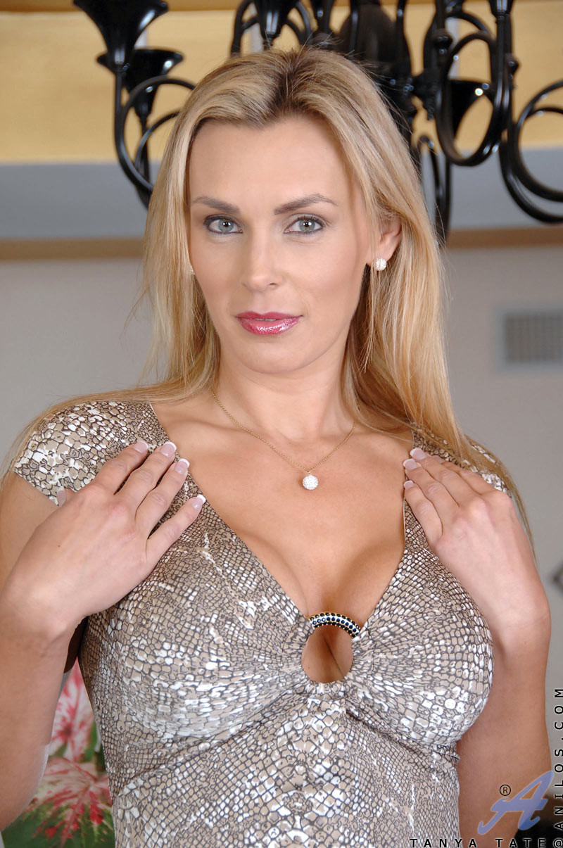 Big titted tanya tate slips off her evening wear and fingers her shaved anilos p
