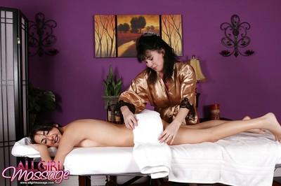 Lesbian couple are up to some serious pussy licking and clit massage