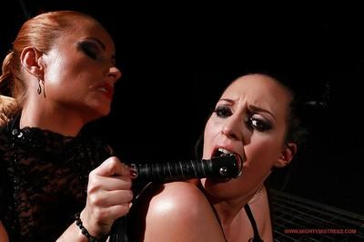 Busty babe Margarita gets abused by kinky MILF Katy Parker