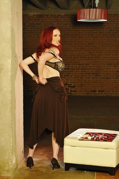 Steamy redhead MILF Mz Berlin uncovering her gorgeous curves