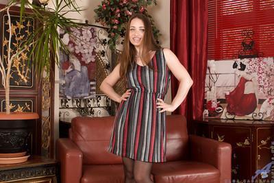 Russian model Olga Cabaeva stroke her accurate sweet vagina so sweet