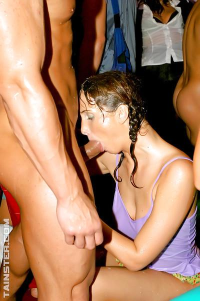 Fetching european MILFs enjoy wet and fervent sex orgy at the wild party