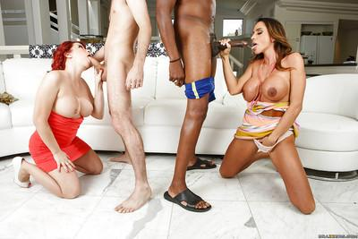 Ariella Ferrera & Sarah Blake enjoy passionate foursome with hung lads