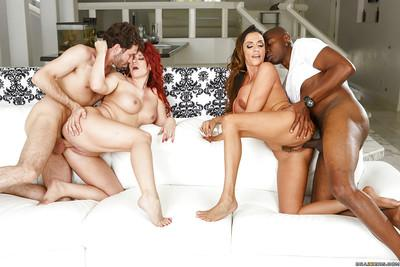 Ariella Ferrera & Sarah Blake enjoy passionate foursome with hung lads