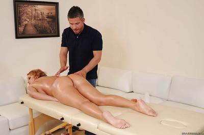 Lascivious MILF with big tits Krissy Lynn gets fucked by a horny masseur