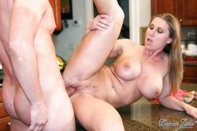 Busty pornstar Devon Lee taking dick deep inside pierced MILF vagina