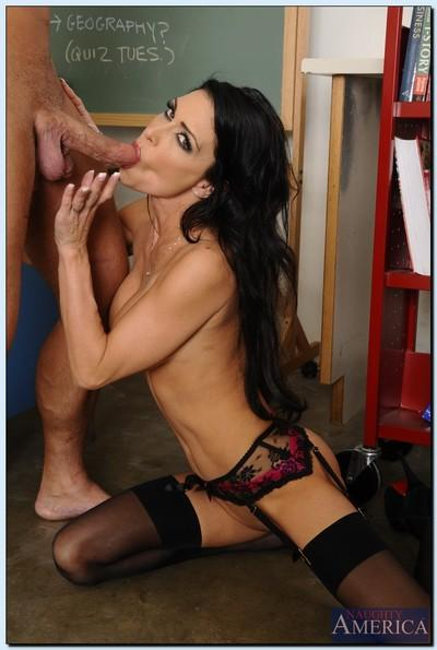Stupendous teacher Jessica Jaymes gets fucked by her student in the classroom